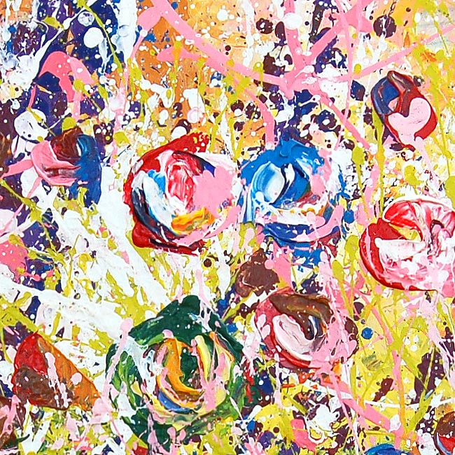 """""""Garden of Flowers"""" – abstract African floral canvas art print"""