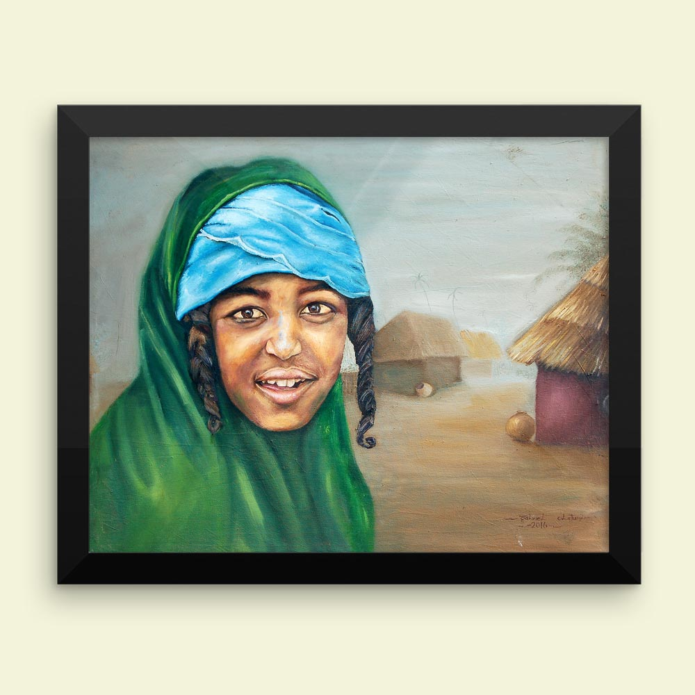 """True Fulani Face"" – contemporary art print (framed)"