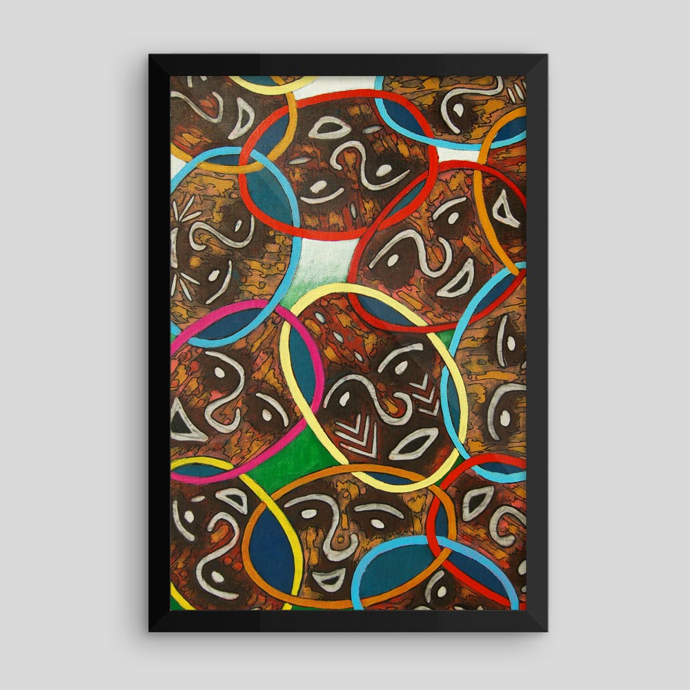 """Unity in Diversity"" – framed African art print –"