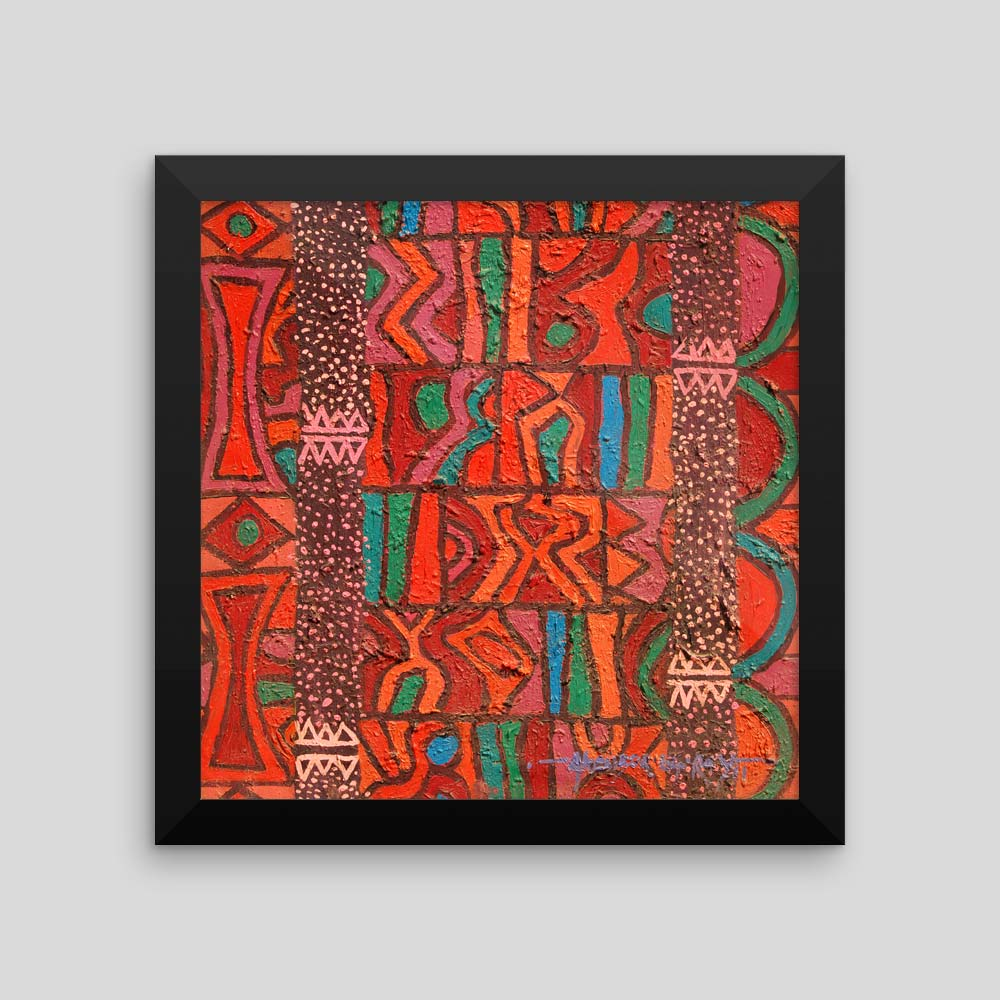 Abstract African Art Print Quot Agbada Ii Quot Framed Print