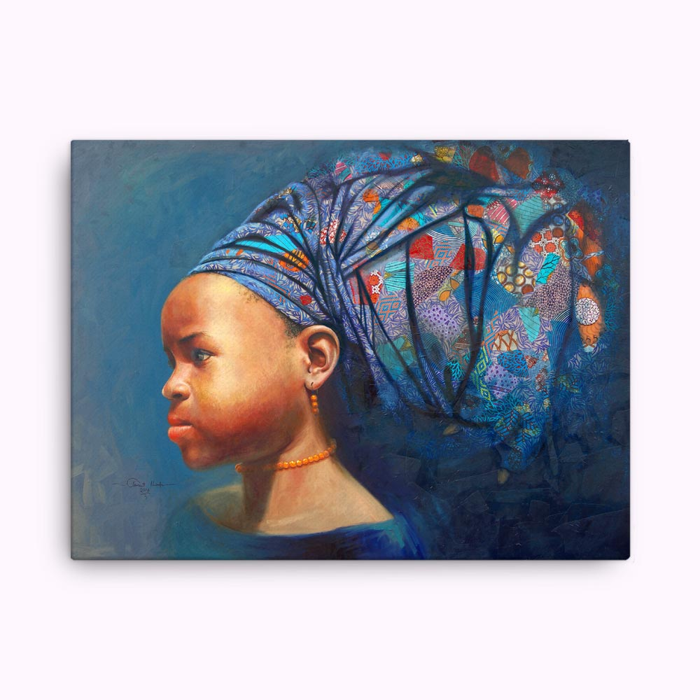"""Determination of the African Girl Child"" – canvas print"