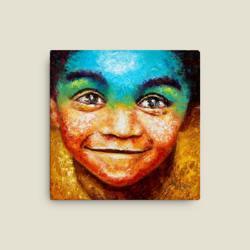 """Smile"" – colorful canvas print"