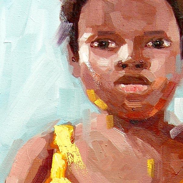 "African Art Print ""Childhood"" (framed print)"