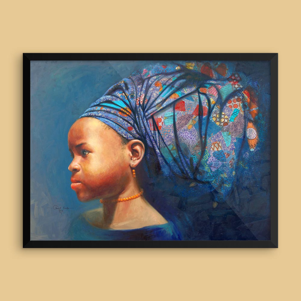 """Determination of the African Girl Child"" – framed/unframed/canvas print"