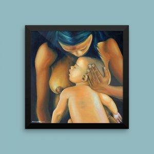 African-Art-Framed-Print-Motherly-Love_Artytude_AfriMod