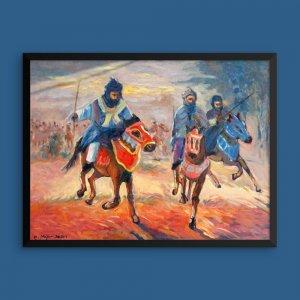 African-Art-Framed-Print_Durbar-Procession_Colour-Ovation-Gallery_AfriMod