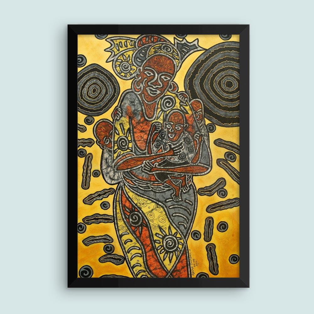 """Mother Africa"" – framed African art print (12×18″) –"