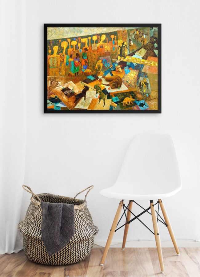 """Abstract Art Print: """"My Center of the Universe"""""""