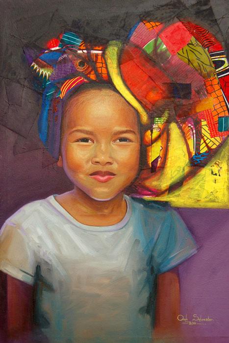 """African girl child """"Girl"""" (framed print)"""