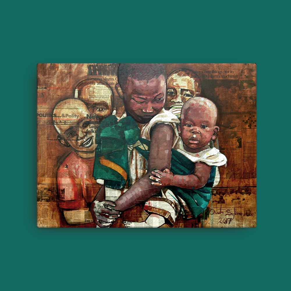 "Children of Africa ""Unaware"" – framed/canvas print"