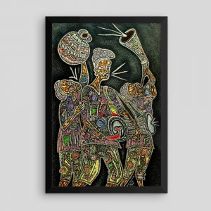 Framed-African-Art_On-the-Way-to-Palace_Araba_AfriMod