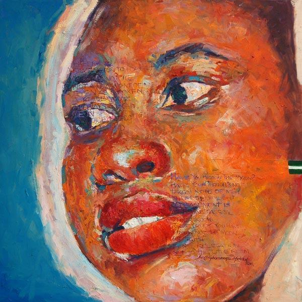 """Straighten I"" – Inspirational African Art (framed/canvas print)"