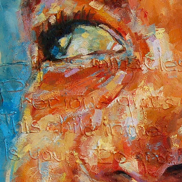 """""""Tha Shade I"""" – Inspirational African Art & Poetry for New Parents (original & prints)"""