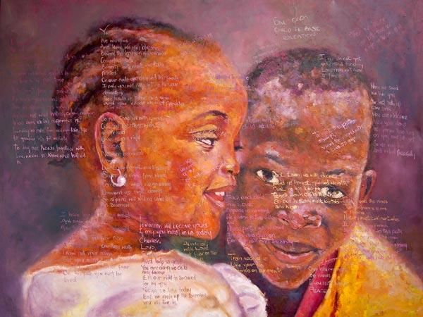 """Tha Shade II"" – African Family – Inspirational Art & Poetry (original & prints)"