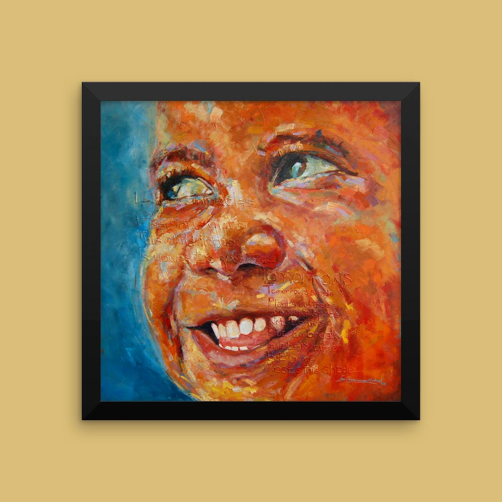 """""""Tha Shade I"""" – Inspirational African Art & Poetry for New Parents (framed/canvas prints)"""