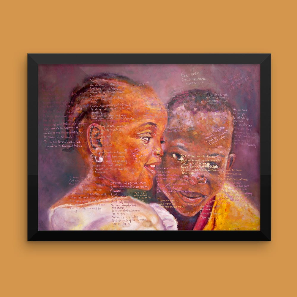 """Tha Shade II"" – African Family – Inspirational Art & Poetry (framed/canvas print)"
