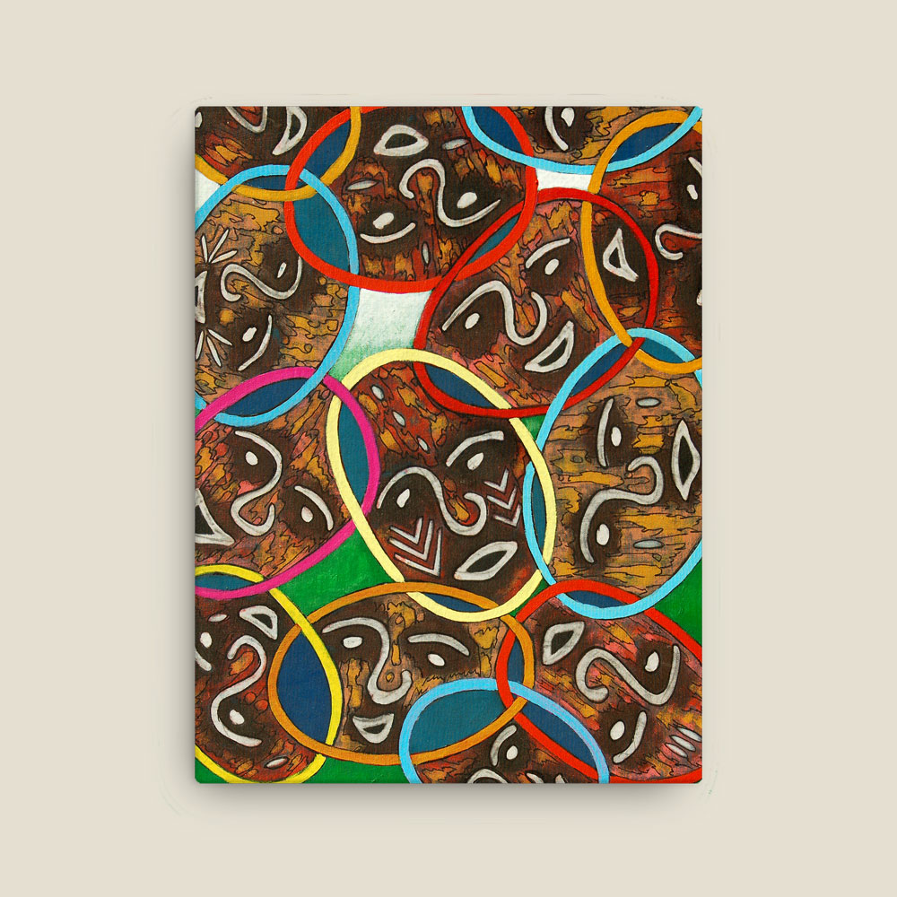 "Abstract African Art ""Unity in Diversity"" – canvas wrap print (12×16″) –"