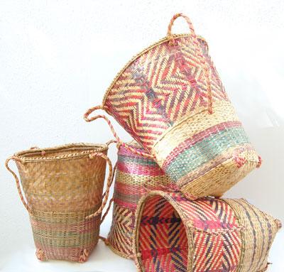 Rustic African Tea-Harvester Baskets
