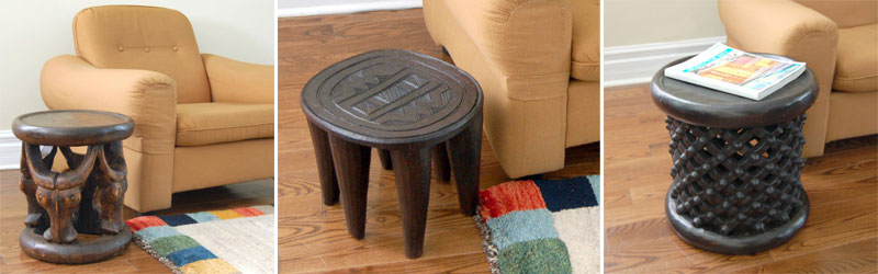 Examples of African stools you can sell online on AfriMod