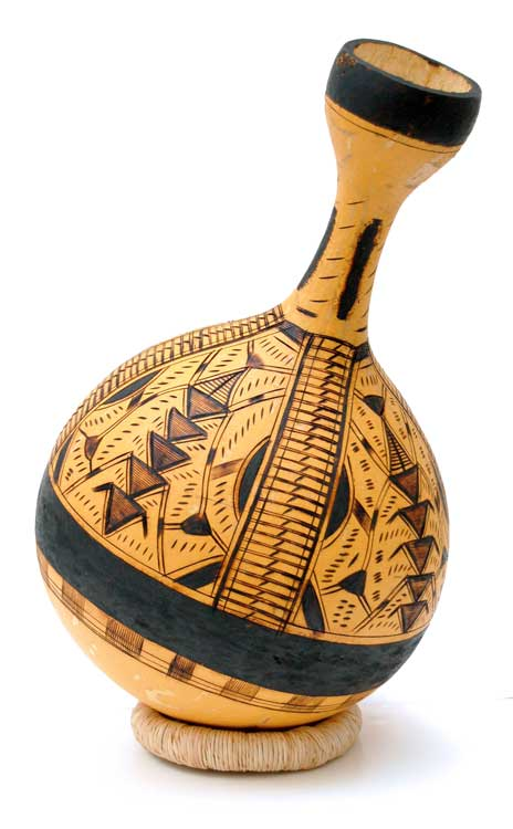 African Gourd Vase