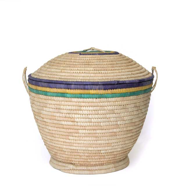 Lidded Storage Basket – Large (~19in wide)