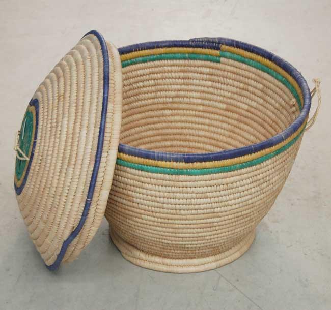 Lidded Storage Basket – Large (~19in wide)