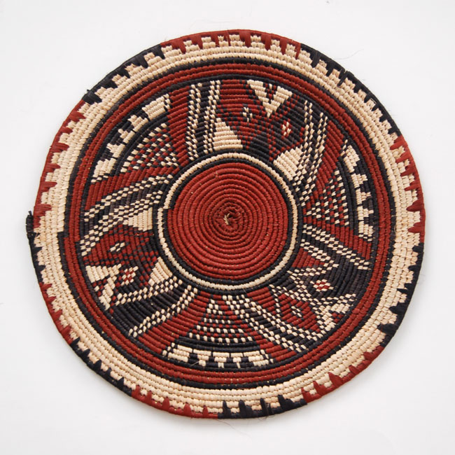 African flat basket set (~12in-13.5in)