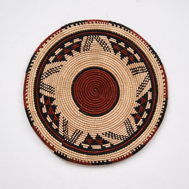 African Flat Baskets – Wall Art Set (3)