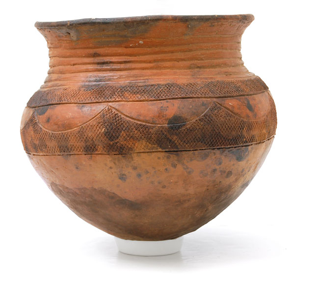 African Terracotta Pot (Nupe Pottery)