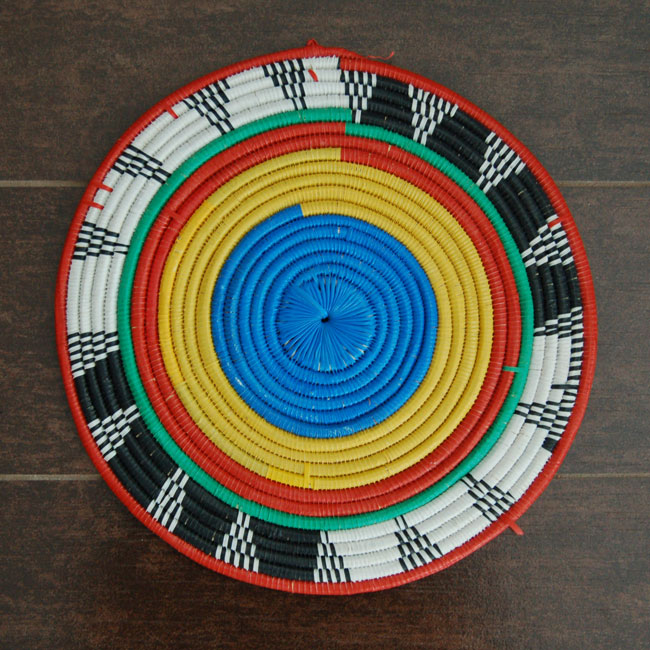 African Flat Basket (~11in)
