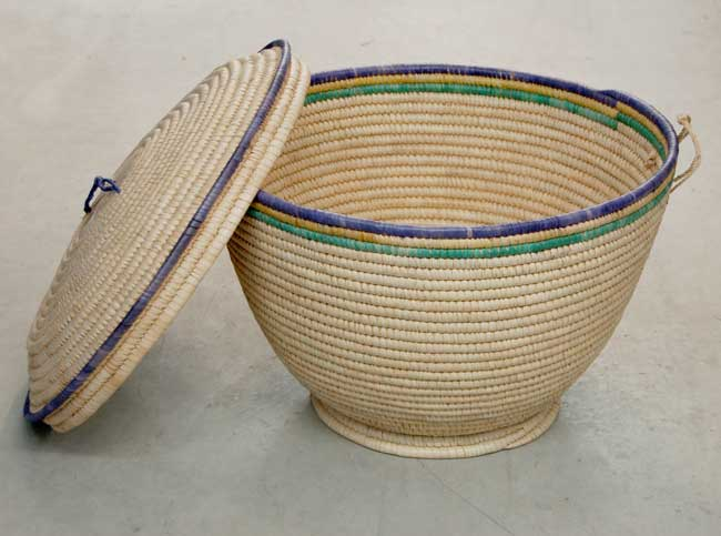 Lidded Storage Basket – Large (~22in wide)