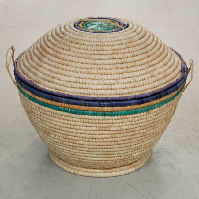 Lidded Storage Basket with Tall Dome Lid – Large (~22in wide)