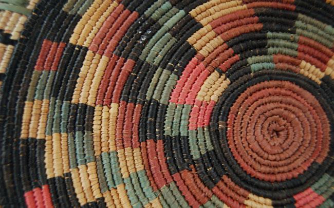 Vintage African Flat Basket ~ Taraba Style