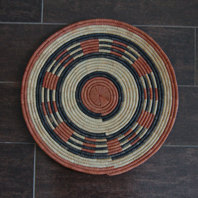 Vintage African Flat Baskets (set of 4)