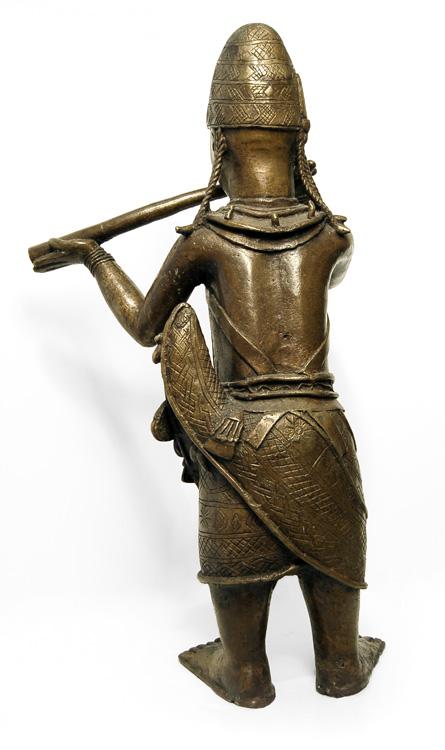 Vintage Benin Bronze Hornblower