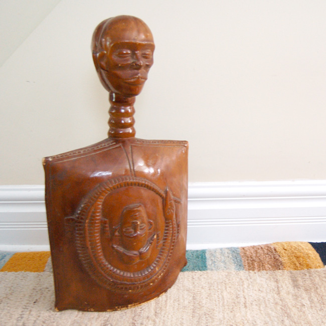 Vintage igbo gong janus head for sale african for Antiques and collectibles for sale
