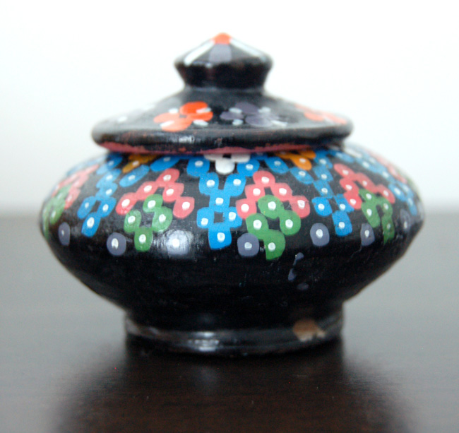Vintage Safi Pottery – Tiny Handmade & Hand-painted Moroccan Jar