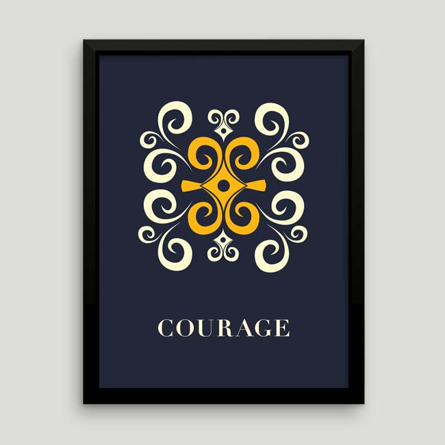 Adinkra Poster: Courage