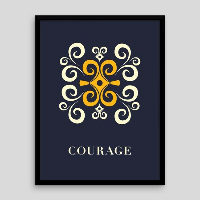 Courage – Adinkra-inspired Poster