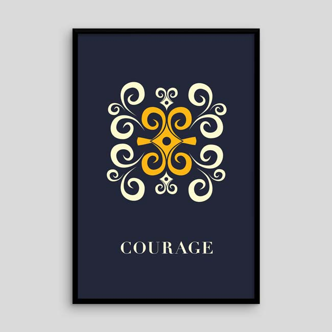 Courage – Adinkra-inspired Poster