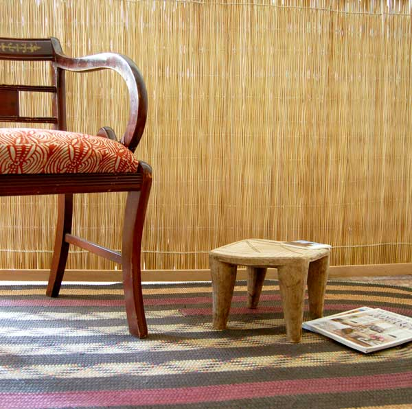 A Touch of Modern Global Flair with African Stools