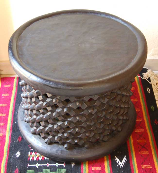 Bamileke Stool: Large Side or Coffee Table