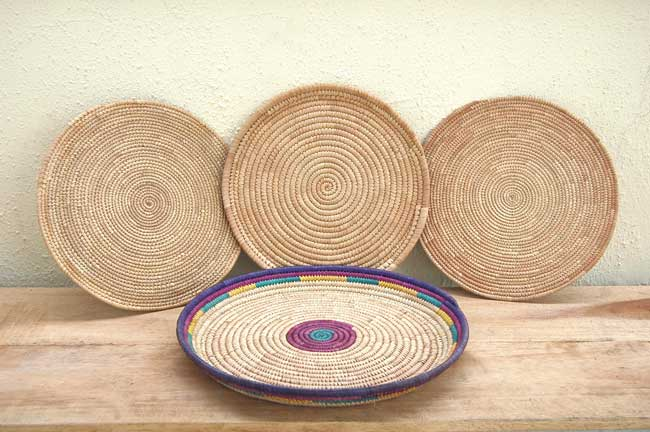 Handwoven African Basket Set (tabletop baskets)