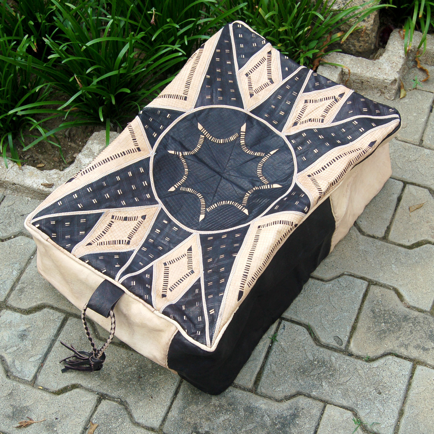 Bello (Rectangular) – Hausa Leather Pouf