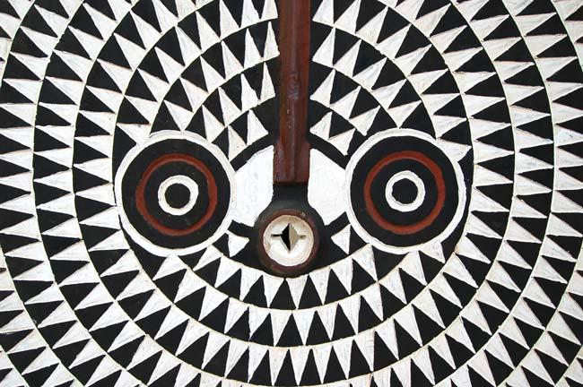 Large Bwa Sun Mask – Black & White (over 3ft)