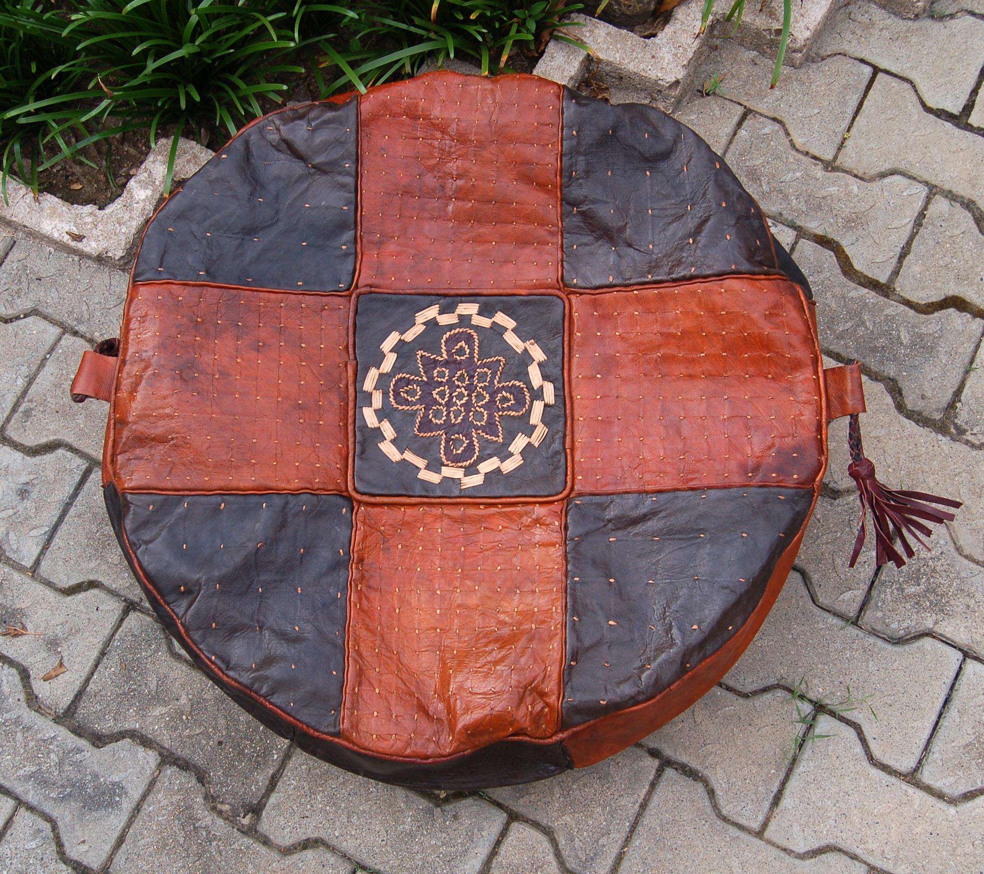 Dune (Round) – Hausa Leather Pouf