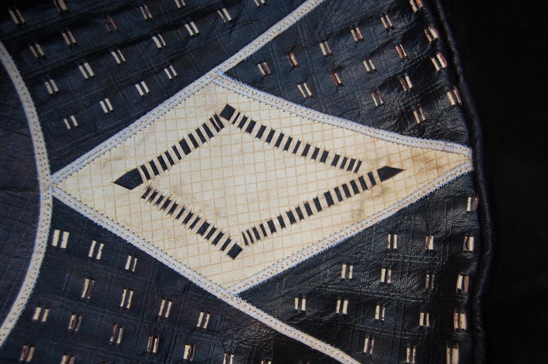 Bello (Round) – Hausa Leather Pouf