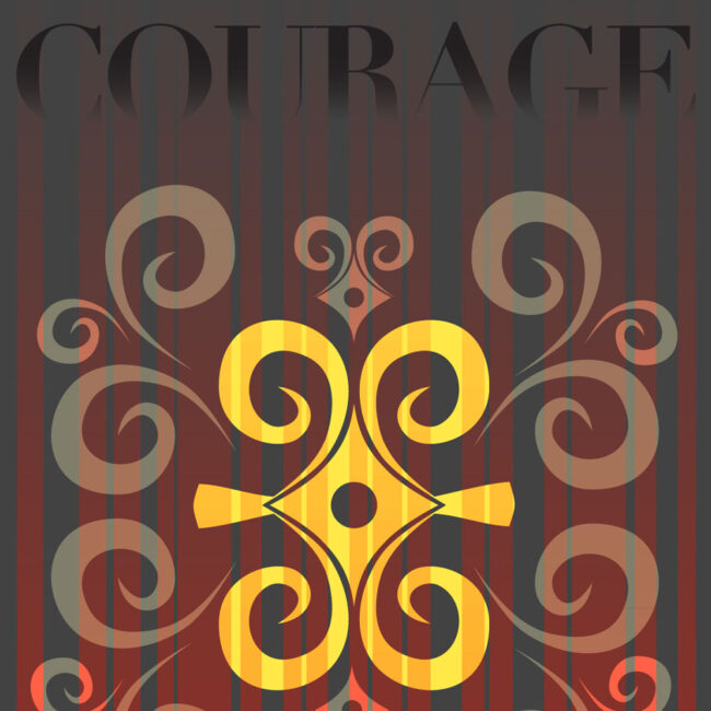 Courage – blank encouragement card