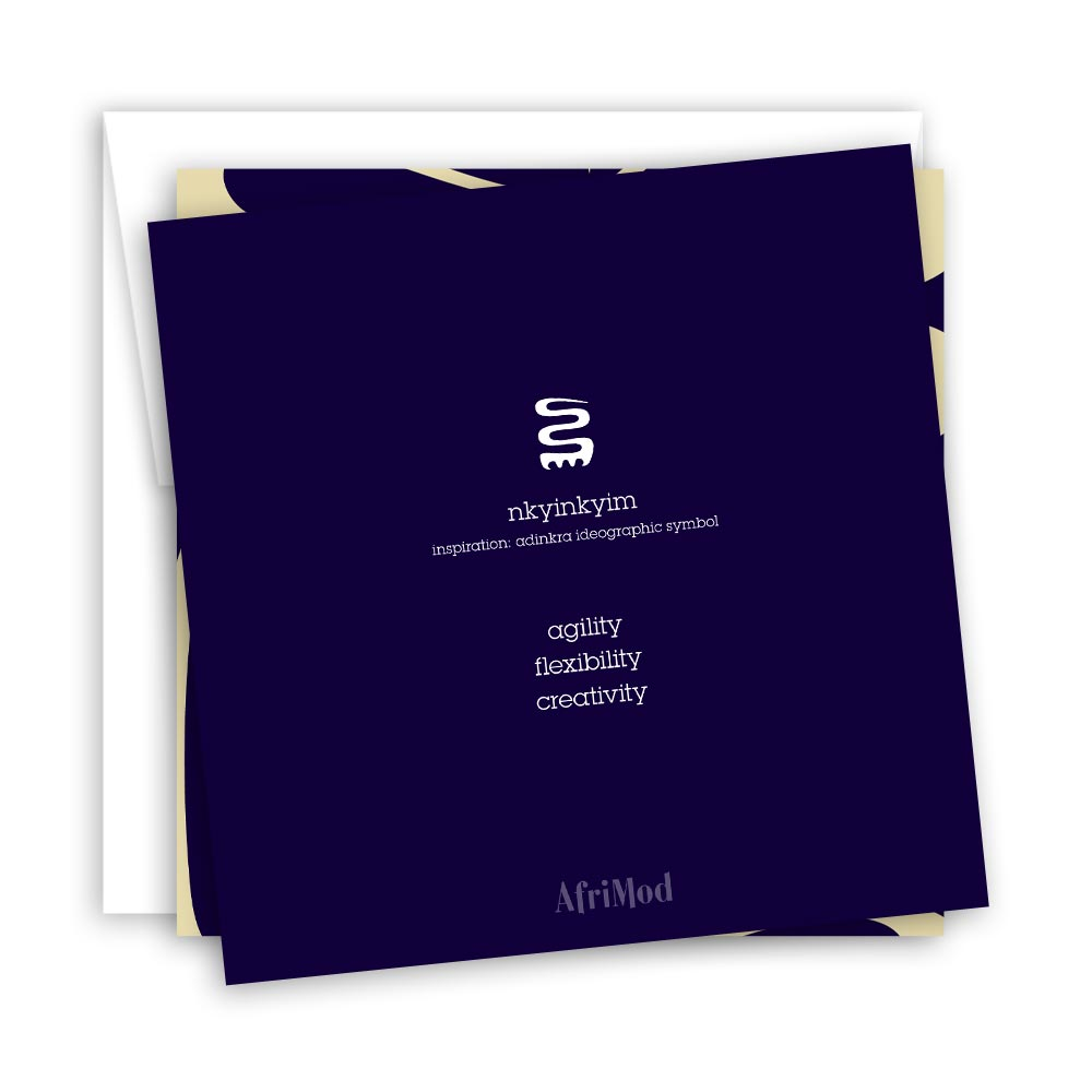 Hustle & Flow – blank minimalist blank greeting card