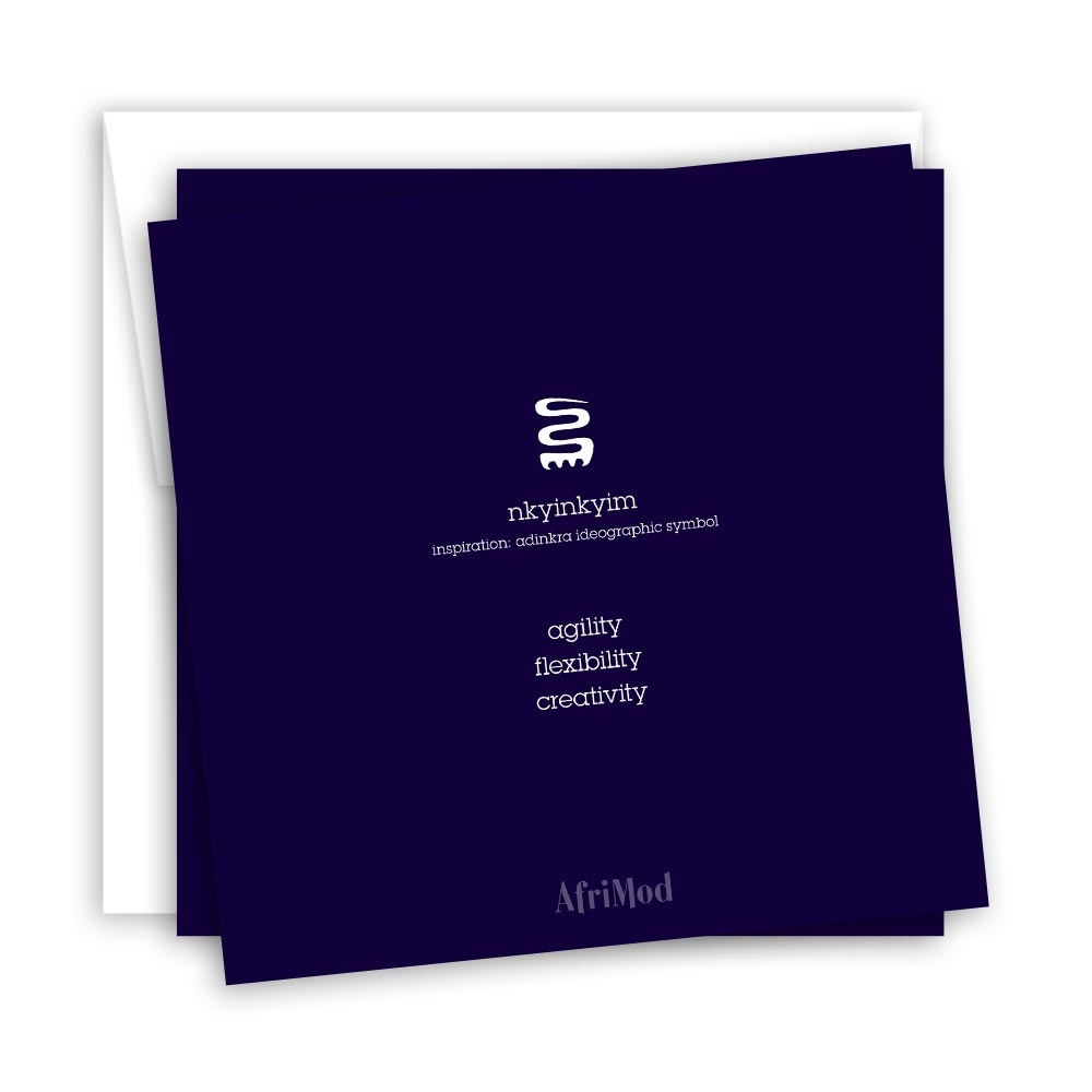 Creative Twist – blank minimalist greeting card